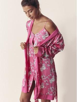 Bata Verano Mujer ADMAS Pink Flowers Fucsia .