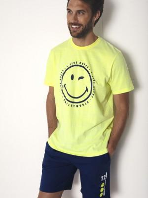 Pijama Verano Hombre SMILEY Hombre Iconic Face Lima Algodón