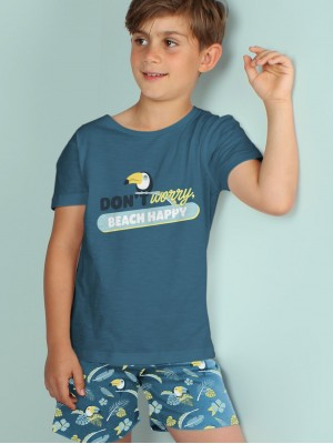 Pijama Verano Niño MR WONDERFUL Tween Chico Tucan Oceano Algodón
