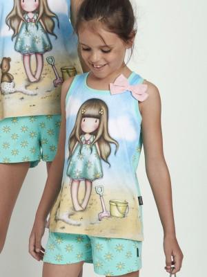 Pijama Verano Niña SANTORO GORJUSS Tween Chica Hello Summer Azul Algodón