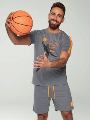 Pijama Verano Hombre MUYDEMI Basket Gris Algodón