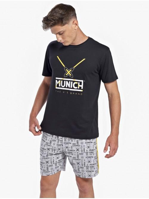 Homewear bolsillos Verano Hombre MUNICH Negro Algodón Modal