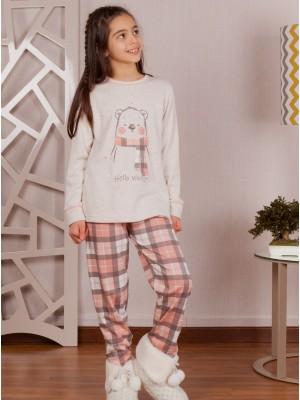 Pijama Invierno Niña Rachas&Abreu Oso Cuadros Tallas Grandes