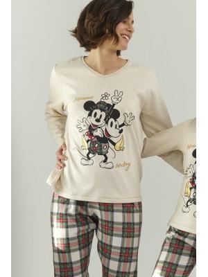Pijama Funny Friend MUJER DISNEY INVIERNO Crudo