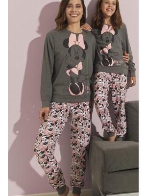 Pijama Bowtiful Minnie MUJER DISNEY INVIERNO Gris Jaspe