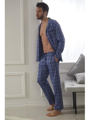 Pijama Abierto Uranus HOMBRE ADMAS CLASSIC INVIERNO Azul