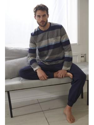 Pijama Jupiter HOMBRE ADMAS CLASSIC INVIERNO Azul Algodón