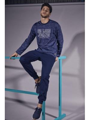 Pijama Live Fast HOMBRE LOIS INVIERNO Azul Algodón