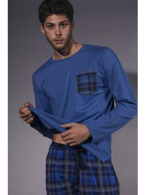 Pijama Jeans Vip HOMBRE LOIS INVIERNO Azul