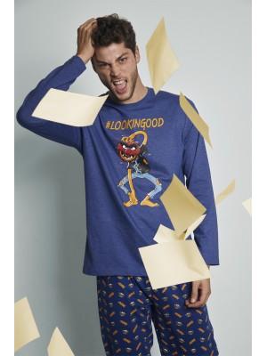 Pijama Animal Lookingood HOMBRE DISNEY INVIERNO Azul Algodón