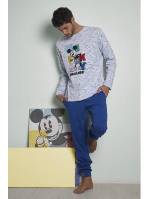 Pijama Mickey Colours HOMBRE DISNEY INVIERNO Azul Algodón