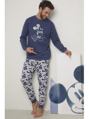 Pijama Mickey Jeans HOMBRE DISNEY INVIERNO Azul