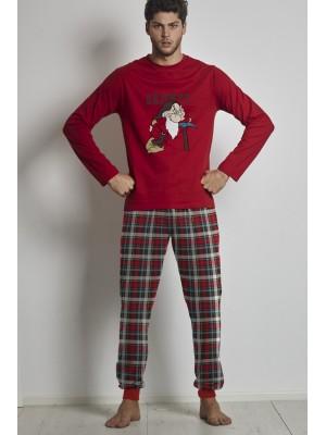 Pijama Grumpy Pick HOMBRE DISNEY INVIERNO Rojo Algodón