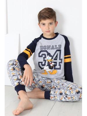 Pijama Tween Donald 34 NIÑO DISNEY INVIERNO Gris Jaspe Algodón