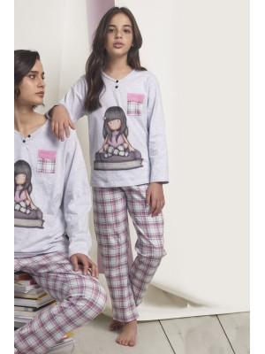 Pijama Tween The Words NIÑA SANTORO GORJUSS INVIERNO Gris Jaspe Algodón