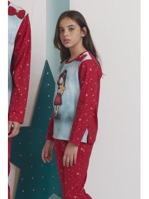 Pijama Tween My Star NIÑA SANTORO GORJUSS INVIERNO Frambuesa Algodón