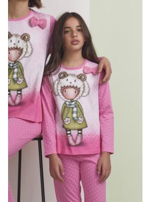 Pijama Tween Lambkins NIÑA SANTORO GORJUSS INVIERNO Rosa