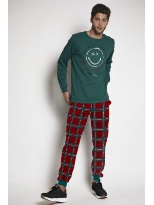 Pijama Tartan HOMBRE SMILEY INVIERNO Botella Algodón
