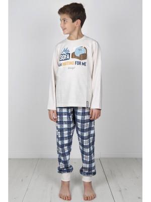 Pijama Tween Sofa NIÑO MR WONDERFUL INVIERNO Beige