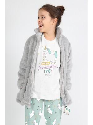 Pijama Tween Para Fantastica Tu NIÑA MR WONDERFUL INVIERNO Blanco Algodón
