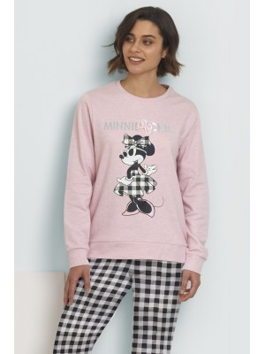Pijama Minnie Chic MUJER DISNEY INVIERNO Rosa Algodón