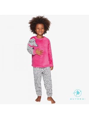 Pijama Térmico Niña Invierno MUYDEMI Dálmata Coralina