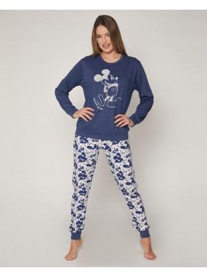 Pijama Mickey Jeans MUJER DISNEY INVIERNO Azul