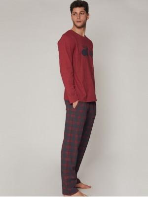 Pijama Life Is Admas HOMBRE ADMAS INVIERNO Granate