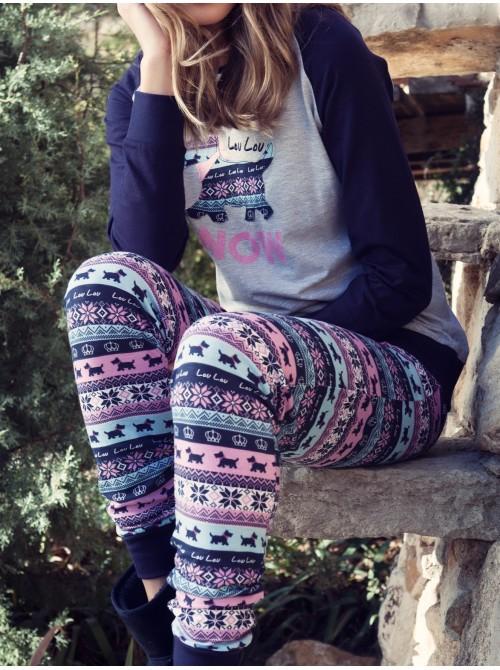 Pijama Admas Lou Lou Snow Niña Algodón 50475